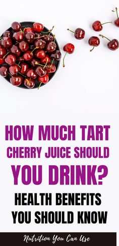 Health benefits of drinking tart cherry juice. In this post we share with you health reasons why you should drink tart cherry juice often. Health And Wellbeing, Health Benefits, Tart Cherry Juice, Tart Cherries, Best Supplements, Foods To Eat, Drinking, Nutrition, Cherry Tart