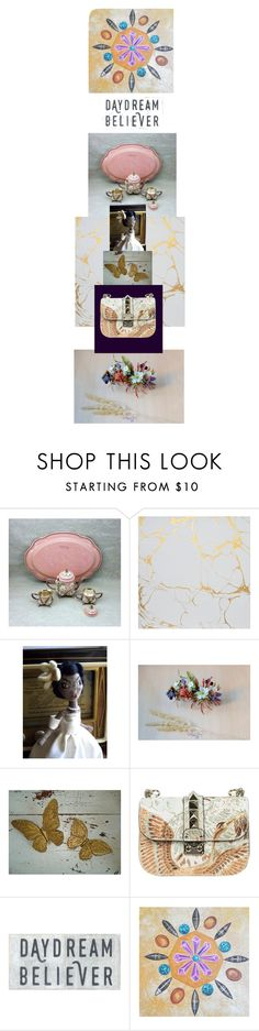 """""""BELIEVE TEAM ON ETSY"""" by claudia-nanni-fine-art ❤ liked on Polyvore featuring Blume, Valentino, Sugarboo Designs, vintage, romantic, boho, pastels, women and Fall2016"""