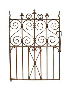 ANTIQUE WROUGHT IRON PEDESTRIAN / SIDE GATE - UK Architectural Heritage