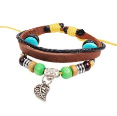 Fashion Lady Retro Leave Metal Leather Colorful Beads Weave Bracelet Strands Bracelet Suede Rope Bracelet Gift Whatland,http://www.amazon.com/dp/B00J3NDWAU/ref=cm_sw_r_pi_dp_Z2dEtb124PPNFJQB