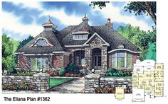 NEW PLAN - now available! The Eliana, plan 1362, is a whimsical 3 bedroom design with lots of character. http://www.dongardner.com/plan_details.aspx?pid=4692. #European #Cottage #HomePlan