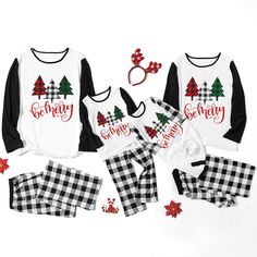 Daily Deals For Moms Daily Deals For Moms 3 Color Tree Print Family Matching Pajamas Set<br> An extra OFF is available for new users now Matching Family Christmas Pjs, Matching Family Pajamas, Matching Family Outfits, Christmas Family Shirts, Family Holiday Pajamas, Family Pjs, Family Clothes, Christmas Clothes, Kids Christmas Pajamas