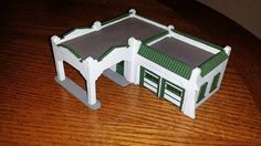 Sinclair gas station HO scale - Roof tiles complete Ho Scale Trains, Roof Tiles, Gas Station, Candles, Building, Birthday, Birthdays, Buildings, Candy
