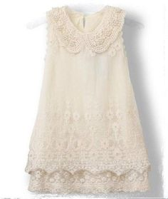 Vintage inspired ivory lace pearl dress. Comes in sizes 1 2 3 4 5 6 7 8 9 10 11 12. Dress has a cotton underlay with lace over the top and pearls on the collar sewn in.