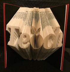 "Book folding pattern forTeach with an apple as the ""a"" +FREE tutorial by BookFoldingForever on Etsy"