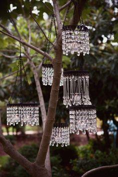 garden chandeliers - treasuredkeepsakes: Pinterest @pinterest.com