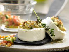 Gratinierter Ziegenkäse - smarter - mit Gemüse und Rucola. Kalorien: 308 Kcal | Zeit: 25 min. #starter