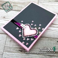 Stampin' Up! Heart Happiness Card Idea from Mitosu Crafts UK for #PCC276 Colour Challenge