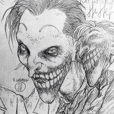 Something REALLY cool will happen with my Joker redesign. Stay tuned!! #sketch #joker #batman #dccomics #rafaelgrampa