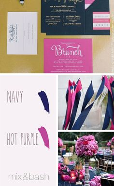 Bridal Shower Colors, Nautical Colors, Neon Purple, Mint, Wedding Parties, Color Themes, Color Combos, Shake, How To Plan