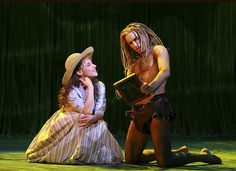 Jenn Gambatese as Jane and Josh Strickland as the Ape Man in Disney's Broadway version of TARZAN