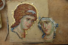 Mosaic Portrait, Mosaic Artwork, Mosaic Madness, Byzantine Icons, Orthodox Icons, Driftwood Art, Mural Art, Religious Art, Mosaic Glass