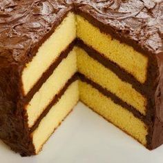 This page contains homemade yellow cake recipes. Many people like yellow cake. You don't have to buy it in a box, you can easily make yellow cake from scratch. Also includes how to make your own cake flour. Layer Cake Recipes, Homemade Cake Recipes, Baking Recipes, Yellow Cake Recipes, Homemade Yellow Cakes, Easy Recipes, Yellow Cake Recipe With Cake Flour, Yellow Cake Recipe Without Buttermilk, Basic Yellow Cake Recipe
