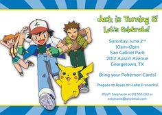 Pokemon Birthday Party Invitation.
