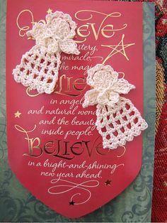 Tiny Christmas Angel pattern by Elizabeth Ann White