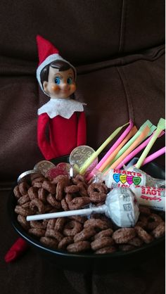 That's a rather sweet breakfast there Elf!