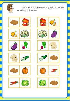 Învățăm jucându-ne: Legumele - Logorici One Piece Crew, Fruits And Veggies, Vegetables, Preschool Activities, Diy And Crafts, Teacher, Learning, Kids, Animal Crossing