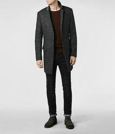 Mens District Coat (Charcoal) | ALLSAINTS.com