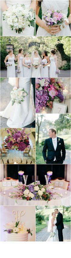 Philadelphia Wedding Florist - A Garden Party Florist - Rachel Pearlman Photography - Hungtindon Valley Country Club - Purple Wedding Flowers