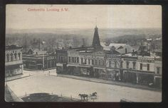 POSTCARD CENTERVILLE IA/IOWA TOWN BUSINESS AREA BIRD'S EYE AERIAL VIEW 1907 in Collectibles, Postcards, US States, Cities & Towns | eBay