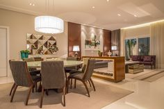 Projeto Juliana Stefanelli Arquitetura Casa Swiss  Sala de Estar e Jantar Interior Design Lareira