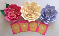Just finished up some templates and I can't wait to see my c paper flowers  I…