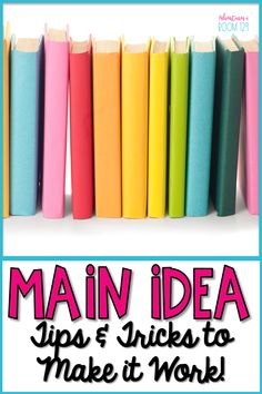 Looking for activities teaching how to find the main idea and details of a passage?  I have some strategies that are perfect for your fiction and nonfiction main idea lessons!  Finding the main idea for kids can be hard, but these notes and printables can help!  Apply them to any passages and mentor texts!  Plus grab your freebie foldable too! Your introduction to main idea for upper elementary or lower elementary is easy with these better than worksheet ideas!  (2nd grade, 3rd grade, 4th grade)