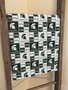 A personal favorite from my Etsy shop https://www.etsy.com/listing/264292961/michigan-state-baby-blanket-green-minky