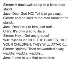 Ducks are scary!