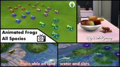 Animated Frogs (All 25 Species) by Bakie at Mod The Sims via Sims 4 Updates