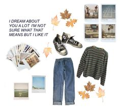 """""""fall(ing in love)"""" by plaidskrts ❤ liked on Polyvore featuring Prada, Levi's, Converse, Chronicle Books and Polaroid"""