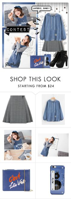 """""""Simple, Chill Denim [Contest]"""" by angelstylee ❤ liked on Polyvore featuring Lizzie Fortunato, Kate Spade and Old Navy"""