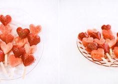 Erdbeer Melonen Spiess Food Porn, Strawberry, Fruit, Birthday, Party, Food Food, Kids, Recipies, Ideas