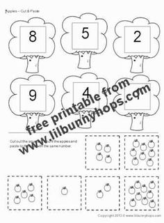 free pre school worksheets like cut and paste fruits and.html