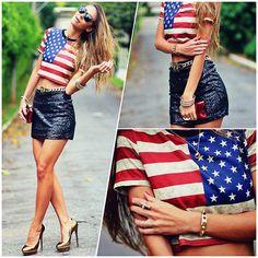 American Flag (by Vanessa Vasconcelos) http://lookbook.nu/look/4700471-American-Flag