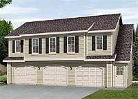 Garage Plan 45120 - 3 Car Garage Apartment Plan with 1128 Sq Ft, 2 Bed, 1 Bath Garage Apartment Plans, Garage Apartments, Cool Apartments, Garage Plans, Garage Ideas, Barn Plans, Apartment Ideas, Barn Apartment, Family House Plans