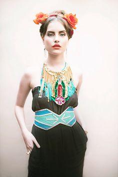 a little bit Frida, a little Cleopatra- love it.