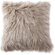 OJIA Deluxe Home Decorative Super Soft Plush Mongolian Faux Fur Throw Pillow Cover Cushion Case (18 x 18 Inch, Light Coffee) Fur Pillow, Fur Throw Pillows, Faux Fur Throw, Throw Pillow Covers, Plush Pillow, Coffee Colour, Eddie Bauer, Pillow Inserts, Cushions
