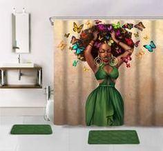 Green Dress Shower Curtain Bathroom Colors, Bathroom Ideas, Turquoise Bathroom, Simple Bathroom, Modern Bathroom, Shower Ideas, Bath Rugs, Bathroom Rugs, Hall Bathroom