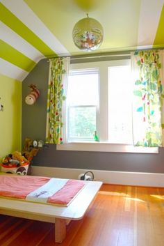 by Megan Buchanan---love this paint job for the kids' rooms