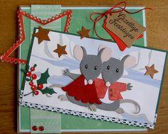 """Kerstkaart week 39 Dit is mijn kerstkaart voor week 36 bij """"52 weeks to Christmas"""". Ik laat deze kaart meedoen met de maandchalle..."""
