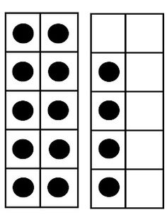 """This set of 25 full page 10-Frame Cards can be used for Teacher Demonstration purposes when working on the development of the landmark numbers of five, ten, and twenty. They can be used to support addition strategies, place value, and understanding the """"teens""""."""
