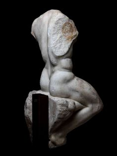 Seated Figure of Herakles Roman, 1st – 2nd century A.D.  Marble  H. : 74 cm. – W. : 30 cm.   Provenance: French private collection of Mrs M., acquired on the Paris art market in 2004.  French Private Collection since the 1980's.