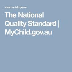 The National Quality Standard   MyChild.gov.au