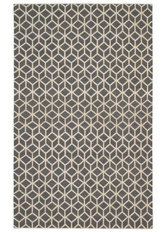 DwellStudio Home Wool Rug Facet Charcoal Cream Rug @Real Simple April 2011