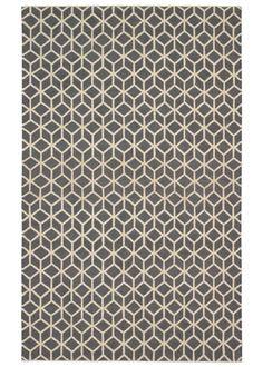 DwellStudio Home Wool Rug Facet Charcoal Cream Rug @Real Simple April 2011