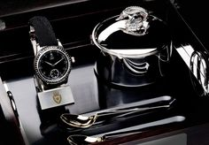 Exquisite Royal Black Caviar Watch Set by York