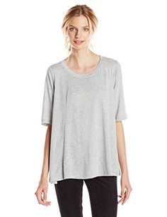 Bring your black denim into summer with this lightweight open-back tee.