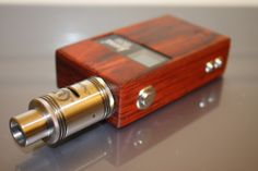LUXYOUN 150W VARIABLE WATTAGE VW BOX MOD - BROWN, WOODEN + STAINLESS STEEL, 1 X 18650, 7~150W - $68.51