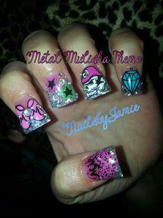 Metal Mulisha #metalmulisha #metalmulishamaidens #nailsbyjme Nailville Fresno, Ca.